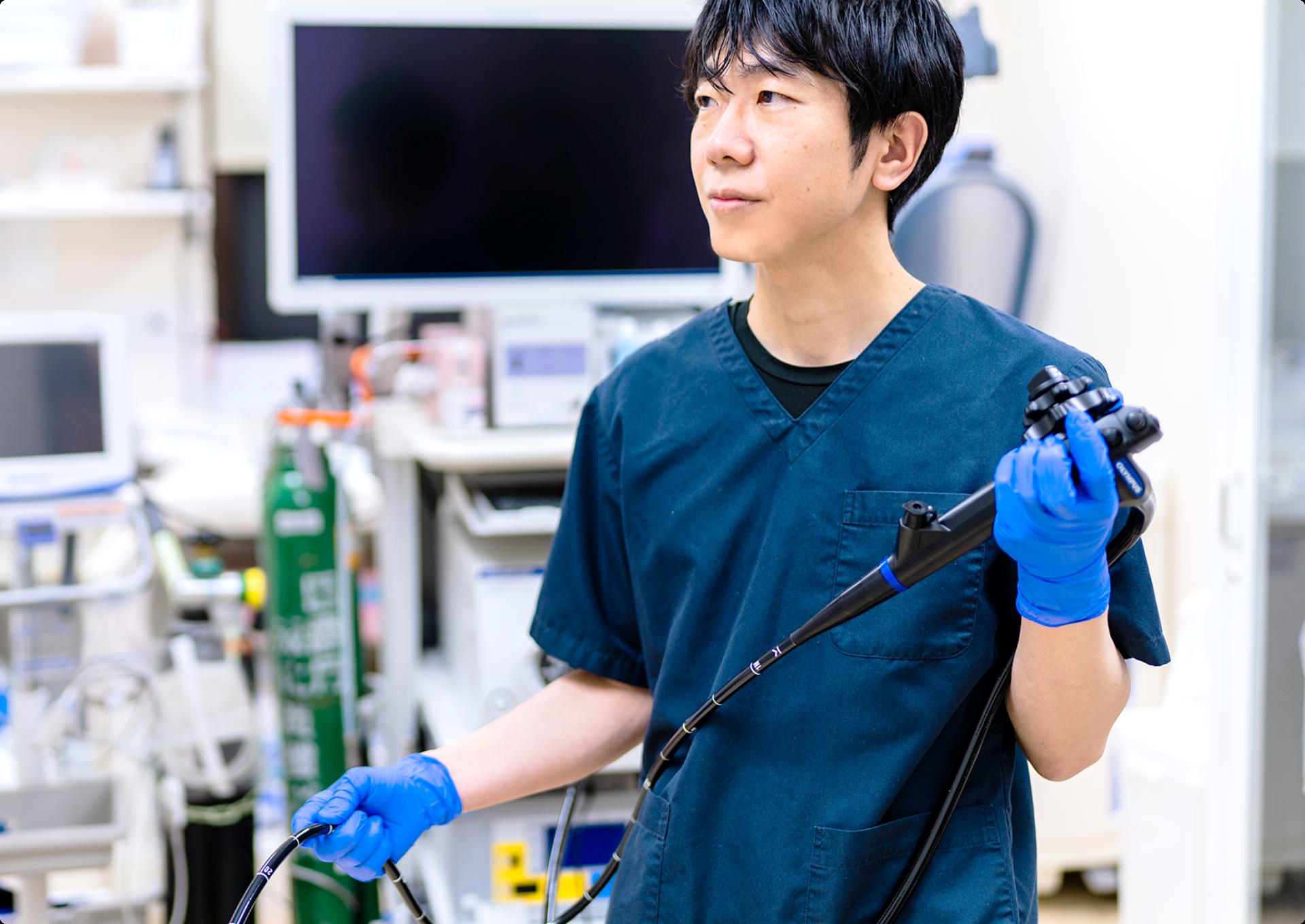 経験豊富な常勤の消化器内視鏡専門医が 責任を持って内視鏡検査を行います