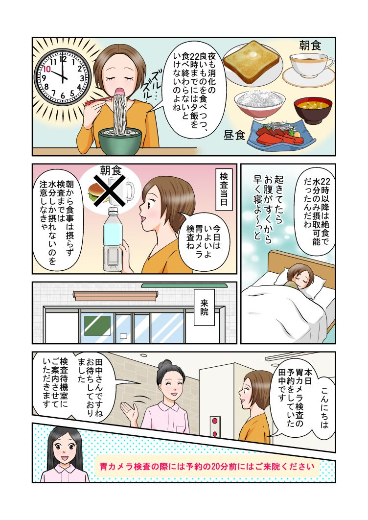 漫画でわかる胃カメラ検査